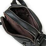 Сумка планшет мужская кожаная через плечо DR. BOND черная (06-105), фото 3