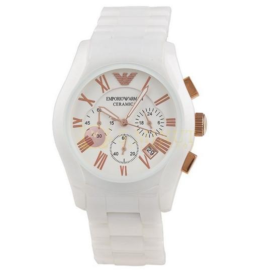 Мужские часы Armani Ar1416 White Ceramic
