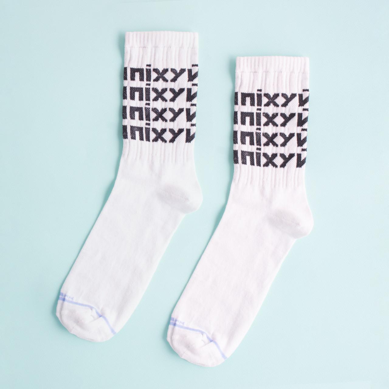 """Шкарпетки білі чоловічі з принтом """"ПІХУЙ"""""""