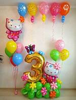 Оформление детского Дня Рождения фольгированными шарами