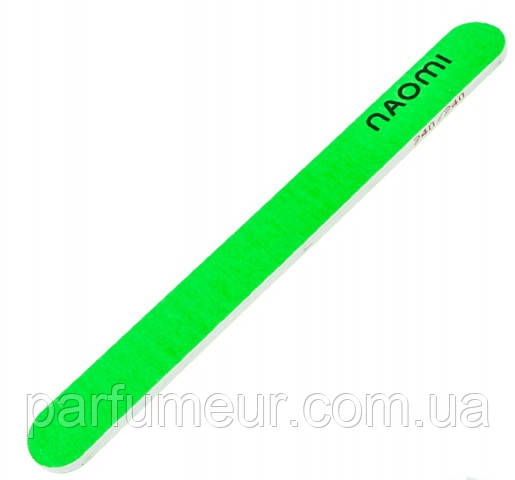 Пилка для натуральных ногтей Naomi Nail file green 240/240 грит