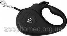 Поводок-рулетка Collar (Коллар) для собак до 15 кг S 5 м лента, чорная