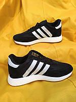 Женские кроссовки Adidas Iniki Runner (черно-белые) D90 спортивная повседневная стильная обувь