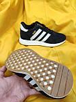 Женские кроссовки Adidas Iniki Runner (черно-белые) D90 спортивная повседневная стильная обувь, фото 4