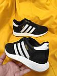 Женские кроссовки Adidas Iniki Runner (черно-белые) D90 спортивная повседневная стильная обувь, фото 8