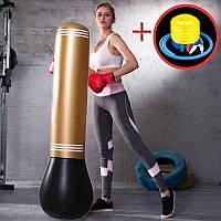 Комплект груша боксерская надувная + насос ножной портативный (ГБ-100+ВН-1)