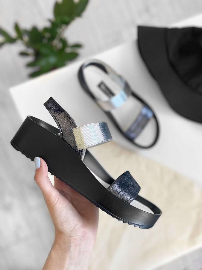 VM-Villomi Стильные кожаные босоножки черного цвета
