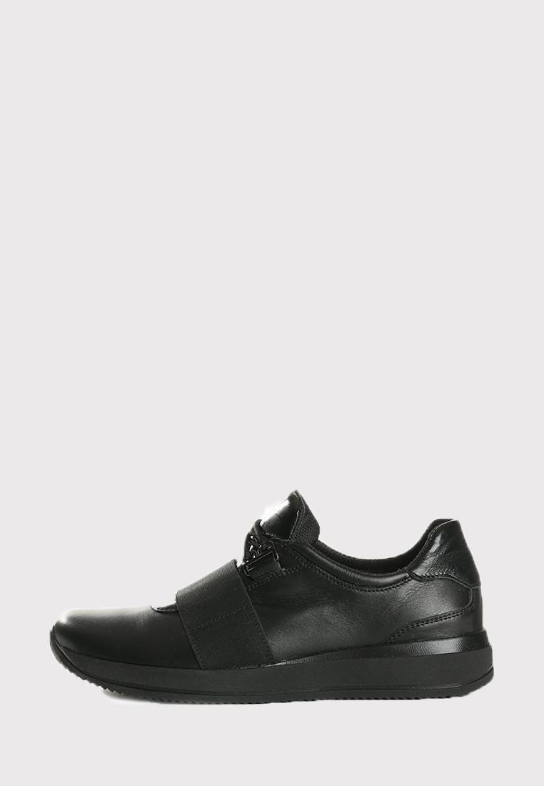 VM-Villomi Стильні шкіряні чорні кросівки з гумкою
