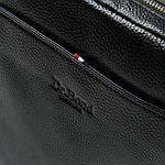 Сумка планшет мужская кожаная через плечо DR. BOND черная (06-108), фото 4