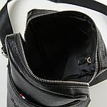 Сумка планшет мужская кожаная через плечо DR. BOND черная (06-108), фото 3
