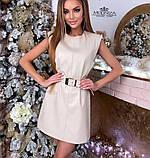 """Кожаное женское платье без рукавов """"Лайза"""", фото 5"""
