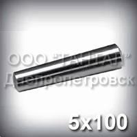 Штифт 5х100 ГОСТ 3129-70 DIN 1, ISO 2339 конический стальной