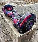 Гироскутер Smart Balance 8 дюймов Новый космос (сумка, колонка, подсветка, самобаланс), фото 6