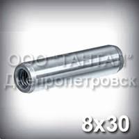 Штифт 8х30 ГОСТ 9464-79 (DIN 7978, ISO 8736) конический с резьбой