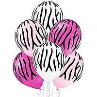 """Гелиевый шар 12"""" (30 см) """"Линии"""" розовый"""