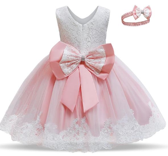 Ошатне пишна рожева сукня до 2 летElegant fluffy pink dress up to 2 years