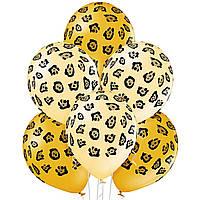 "Гелиевый шар 12"" (30 см) ""Леопард"" золотые"