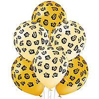 "Гелиевый шар 12"" (30 см) ""Леопард"" оранжевые"