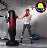 Комплект груша надувная боксерская + насос ножной портативный (ГБ-101+ВН-1)