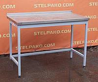 Производственный стол из н/ж для кухни на металл. основе 120х60х85 см., (Украина), Б/у