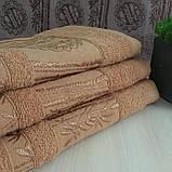 Рушник банний Бамбук 140x70cm (300г/м2) пісочне, фото 2