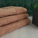 Рушник банний Бамбук 140x70cm (300г/м2) пісочне, фото 3