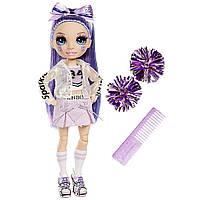 Лялька Рейнбоу Хай Черлідер Віолетта Віллоу Rainbow High Cheer Violet Willow ігровий набір