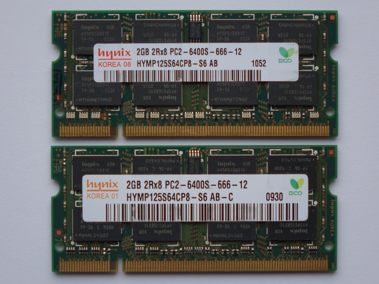 Оперативная память для ноутбука DDR2 SO-DIMM 4GB, 2*2gb (800MHz, PC2-6400s, Hynix) БУ