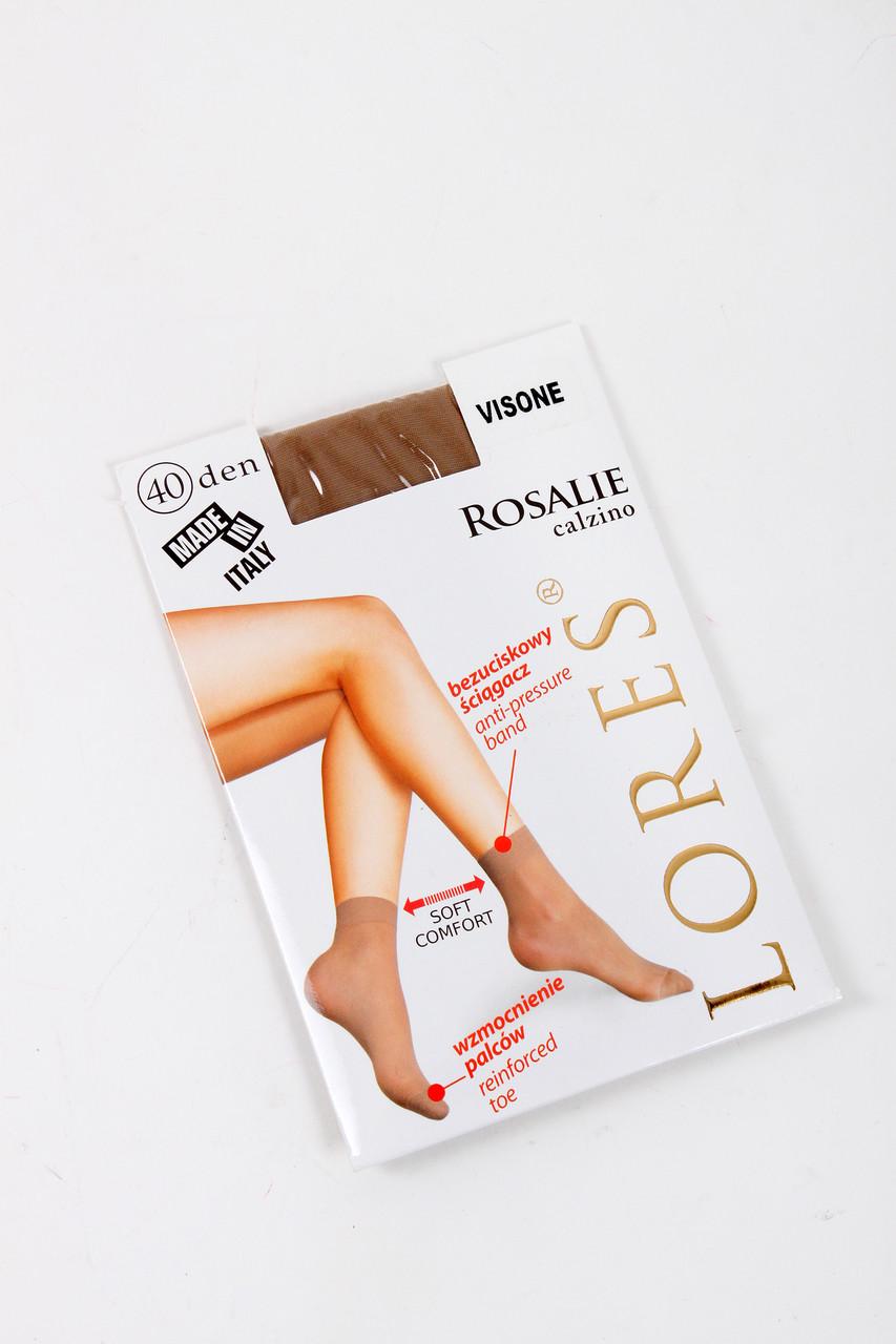 Шкарпетки Lores Жіночі шкарпетки Lores Rosalie calzino 40 visone S/M