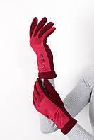 Перчатки FAMO Женские перчатки сенсорные Перри марсаловые One size (PER1811)