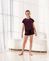 Стильна піжама/костюм для дівчинки. Футболка і шорти.