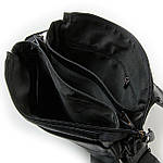 Сумка планшет мужская кожаная через плечо DR. BOND черная (06-115), фото 3