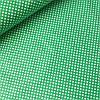 Тканина з густим білим горошком 3 мм на зеленому фоні, ш.160 см