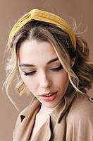 Повязки на голову - тюрбаны Повязка на голову Руби желтая One size (P-2006)