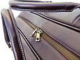 Большая сумка саквояж дорожная Black Diamond из натуральной кожи, фото 6
