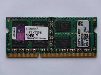 Оперативная память для ноутбука DDR3 SO-DIMM 4GB (1333MHz, PC3-10600, 1.5v, Kingston) БУ