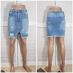 Жіноча джинсова спідниця