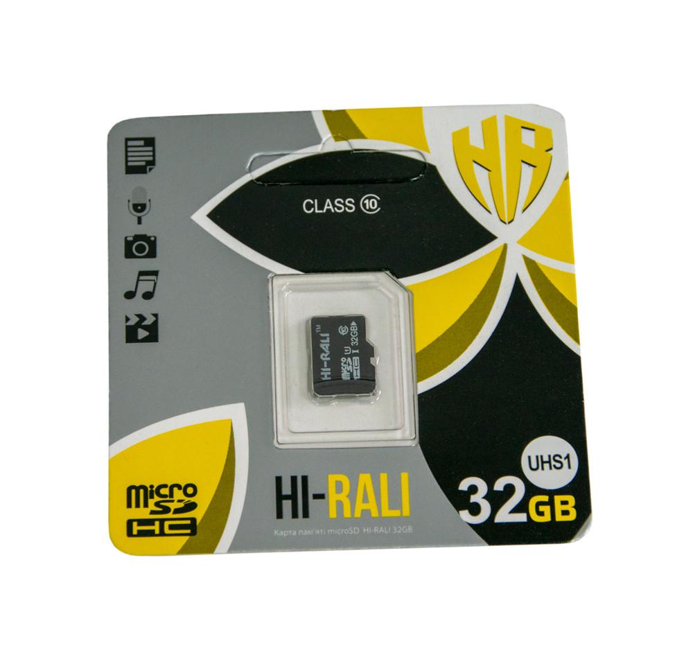 Карта памяти микро сд HI-RALi на 32 гб, micro sd card для фотоаппарата   мікро сд карта пам яті (ST)