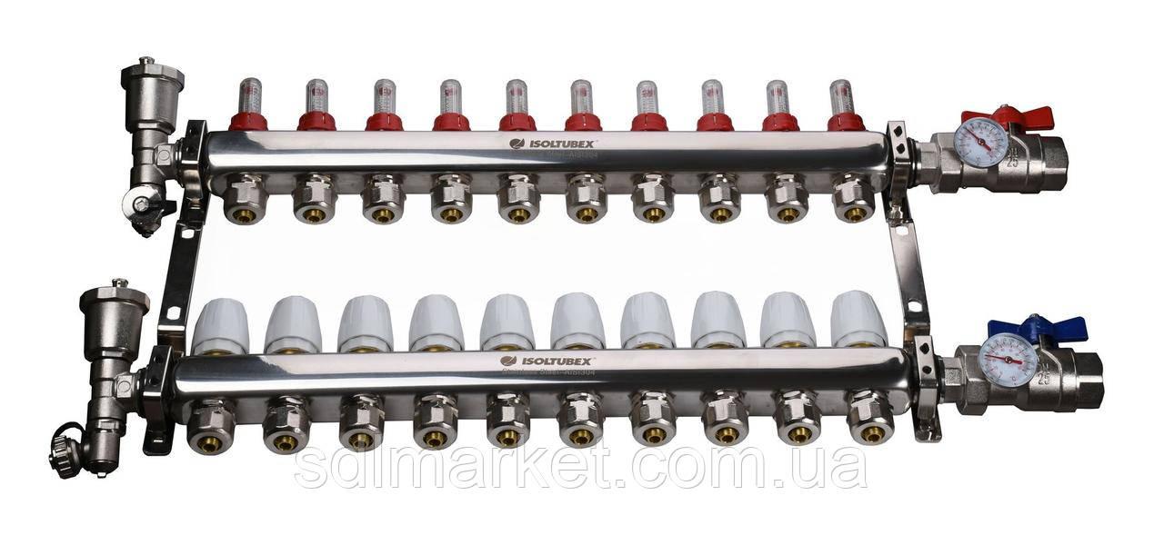 """Колекторна система ISOLTUBEX INOX AISI-304 CO10 (1""""х10)"""