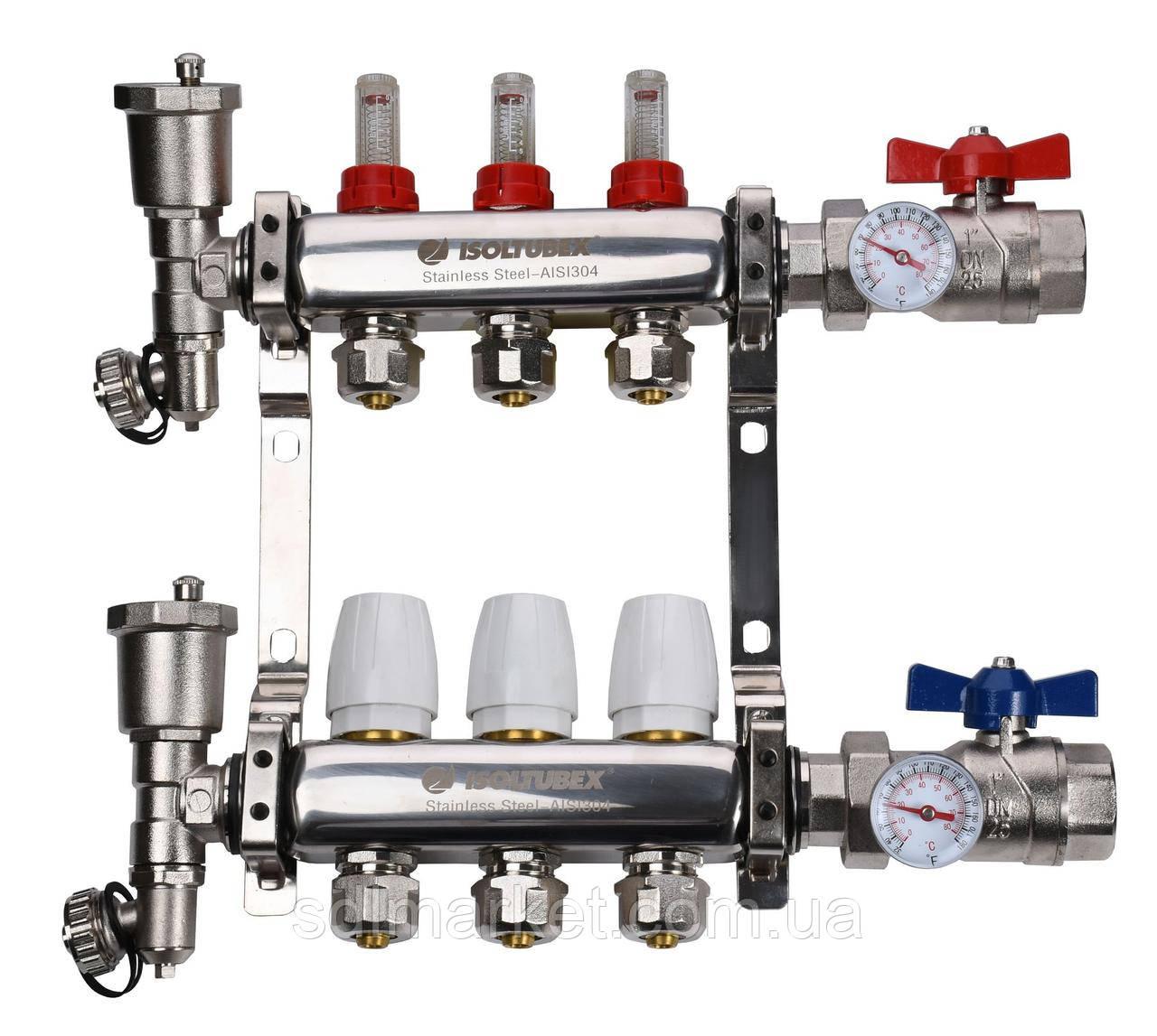 """Колекторна система ISOLTUBEX INOX AISI-304 CO3 (1"""" х 3)"""