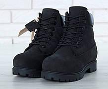 Зимние Мужские черные Ботинки Timberland Original