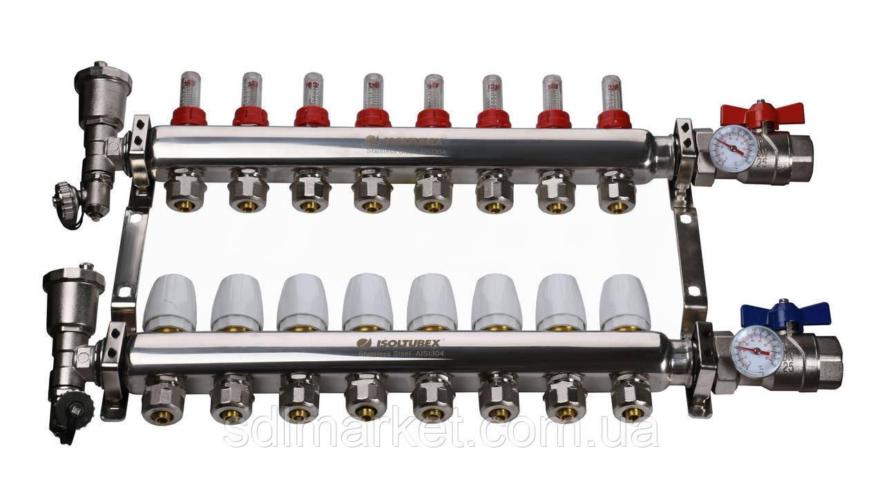"Коллекторная система ISOLTUBEX INOX AISI-304 CO8 (1"" х  8)"