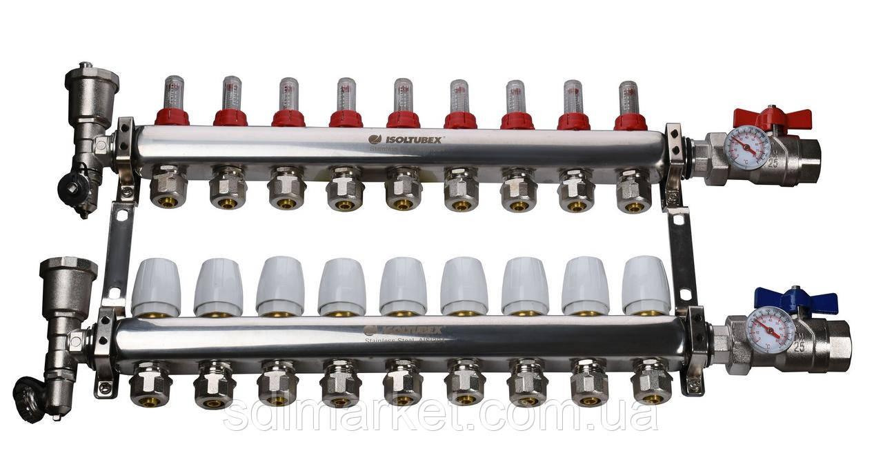 """Колекторна система ISOLTUBEX INOX AISI-304 CO9 (1"""" х 9)"""