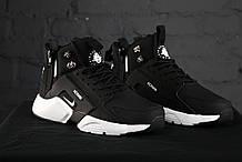 Зимние Мужские черные Кроссовки Nike Huarache Winter Acronym