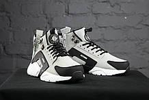 Зимние Мужские серые Кроссовки Nike Huarache Winter Acronym