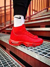 Зимние красные Мужские Кроссовки Nike Air Max Sneakerboot 95