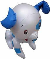 Надувная игрушка Собачка голубая 43 см(ОПТОМ)SY-3276