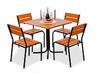 """Комплект меблів для літніх кафе """"Ріо"""" стіл (80*80) + 2 стільця Твк, фото 1"""