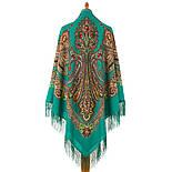 Царевна лягушка 1447-6, павлопосадский платок шерстяной  с шелковой бахромой, фото 2