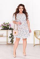 Платье женское большой размер 2152 (50 52 54 56) (цвета: молочный, голубой, черный) СП